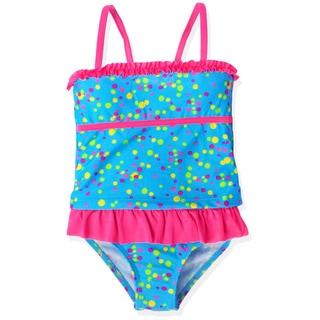 Jump'N Splash Girl's Blue Confetti Skirt Tankini Swimsuit
