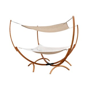 Square Hammock Stand With Hammock & Canopy
