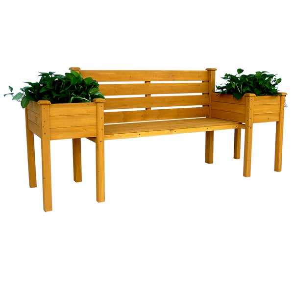 Wood Planter Bench 16966639