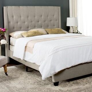 Safavieh Winslet Light Grey Bed (Queen)