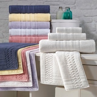 Enchante Allure 7-piece Turkish Towel Set with Bath Rug