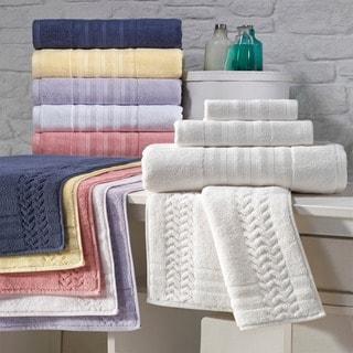 Enchante Allure 7-piece Turkish Towel Set with Bath Rug