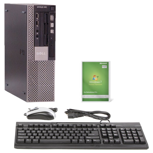 Dell 960 SFF Core 2 Duo 3GHz 4GB DDR2 250GB DVD Home Premium Desktop Set (Refurbished)
