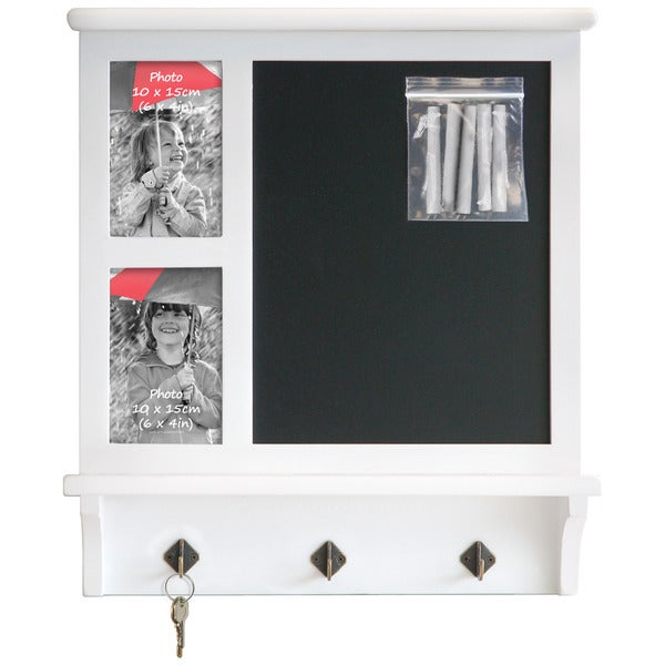 Chaumont Chalkboard Frame and Key Hook Rack
