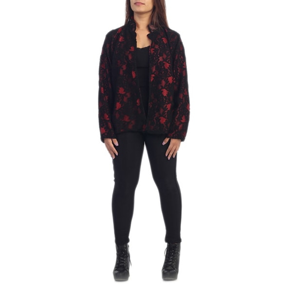 Women's Plus Size Patterned Jacket