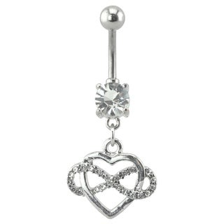 Supreme Jewelry Sterling Silver Heart Infinity Belly Ring