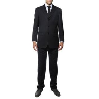 Ferrecci Men's Duke Navy Pinstripe Regular Fir 2-piece Suit