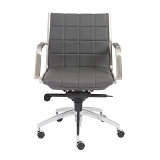Zander Grey/ Chrome Low Back Office Chair