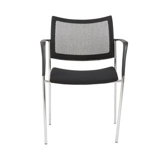 Vahn Black/ Chrome Visitor Chair