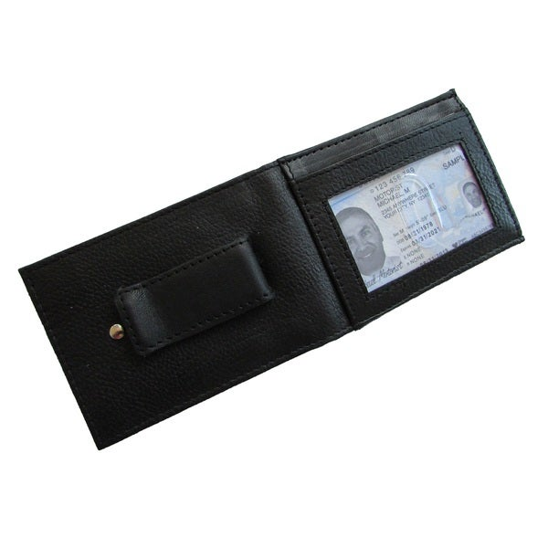 Continental Leather Executive Money Clip Front Bifold Wallet