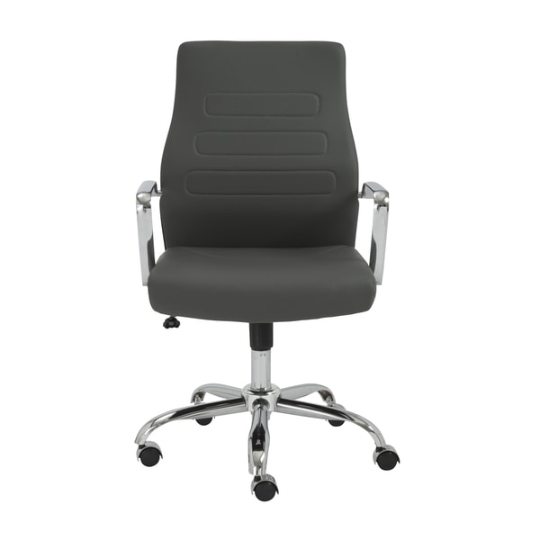 Fenella Grey/ Chrome Office Chair