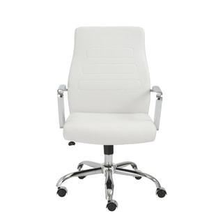 Fenella White/ Chrome Office Chair
