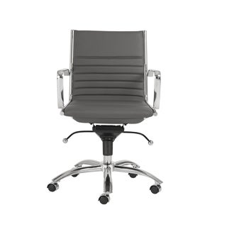 Dirk Grey/ Chrome Low Back Office Chair