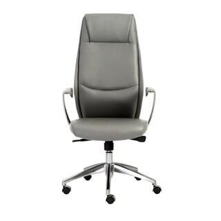 Crosby Grey/ Aluminum High Back Office Chair