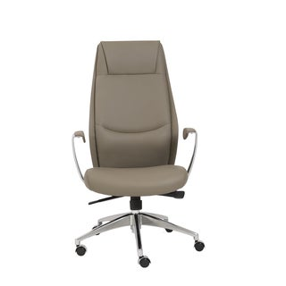 Crosby Taupe/ Aluminum High Back Office Chair