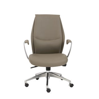 Crosby Taupe/ Aluminum Low Back Office Chair