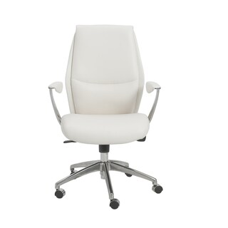 Crosby White/ Aluminum Low Back Office Chair