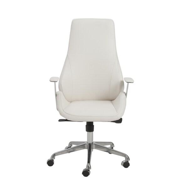 Bergen White/ Aluminum High Back Office Chair