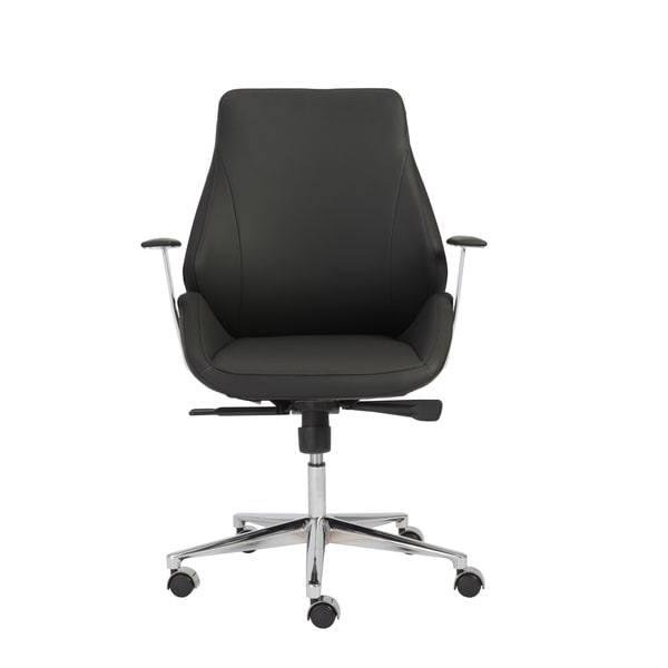 Bergen Black/ Chrome Low Back Office Chair