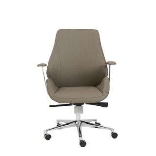 Bergen Taupe/ Aluminum Low Back Office Chair