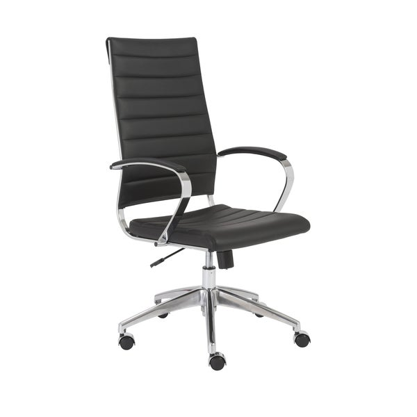 Axel Black/ Aluminum High Back Office Chair