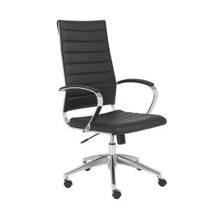 Axel Black/ Aluminum High Back Office Chair