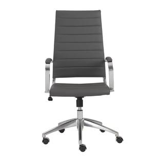 Axel Grey/ Aluminum High Back Office Chair