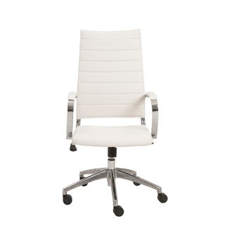 Axel White/ Aluminum High Back Office Chair