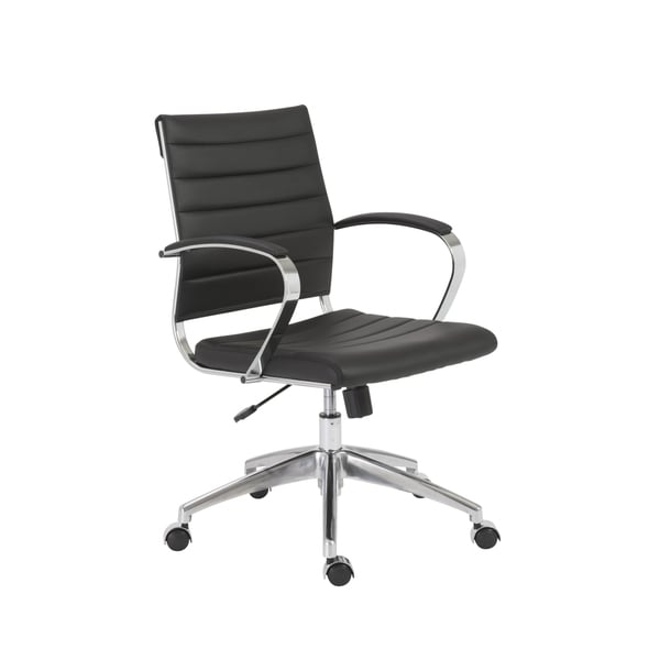 Axel Black/ Aluminum Low Back Office Chair