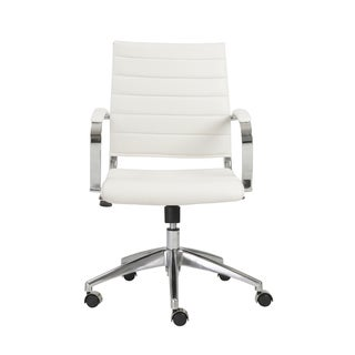 Axel White/ Aluminum Low Back Office Chair