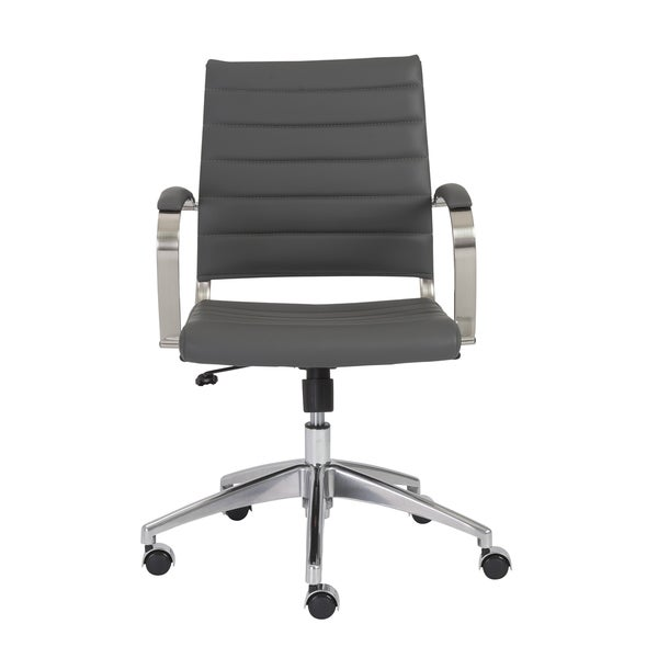 Axel Grey/ Aluminum Low Back Office Chair