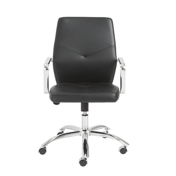 Napoleon Black/ Chrome Low Back Office Chair