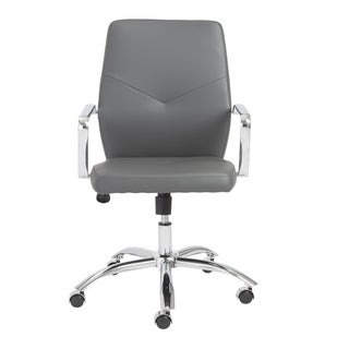 Napoleon Grey/ Chrome Low Back Office Chair