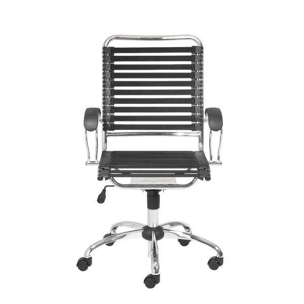Bungie Black/ Chrome Flat J Arm Office Chair