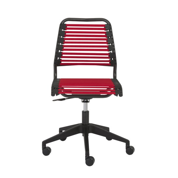 Baba RTA Red/ Graphite Flat Low Back Office Chair