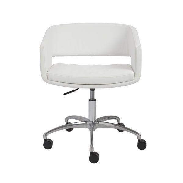 Amelia White/ Chrome Office Chair
