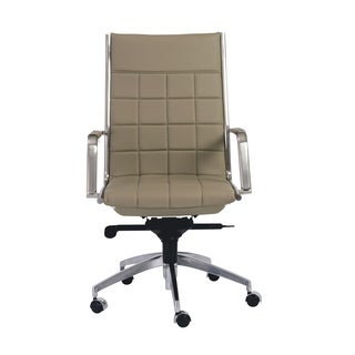 Zander Taupe/ Chrome High Back Office Chair