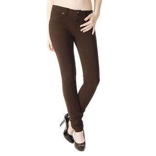 Soho Junior's Brown One Size French Terry Skinny Jegging Pants