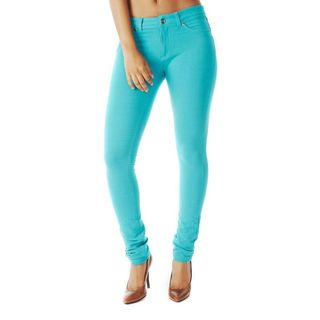 Soho Emerald Green Junior French Terry Skinny Jegging Pants
