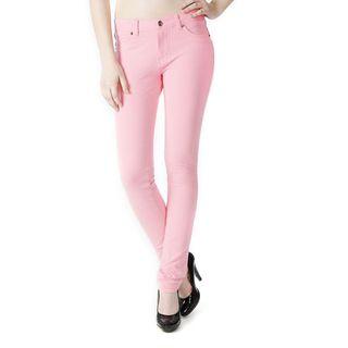 Soho Pastel Pink Junior French Terry Skinny Jegging Pants