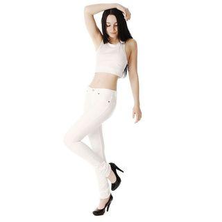 Soho White Junior French Terry Skinny Jegging Pants