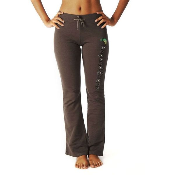 Soho Junior Charcoal Cotton Open Bottom Sweatpants with Embroidery