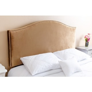 Abbyson Living Riley Nail Head Trim Gold Viscose Queen/ Full Headboard