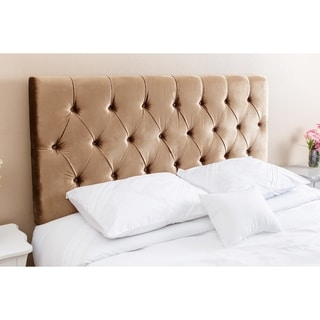 Abbyson Living Connie Tufted Gold Viscose Queen/ Full Headboard