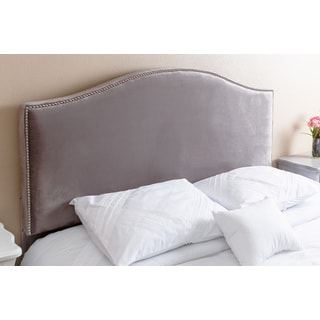 Abbyson Living Riley Nail Head Trim Grey Viscose Queen/ Full Headboard