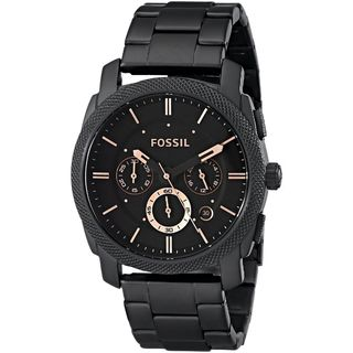 Fossil Men's FS4682 'Machine' Chronograph Black Stainless Steel Watch