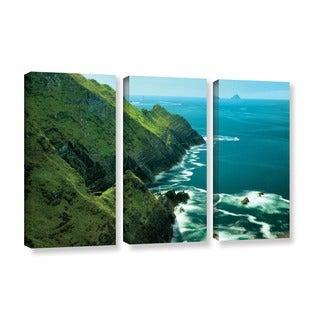 ArtWall Dennis Frates's Emerald Coast, 3 Piece Gallery Wrapped Canvas Set