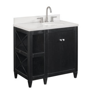 Crawford burke evelyn vanity base with stone top and - Crawford and burke bathroom vanity ...