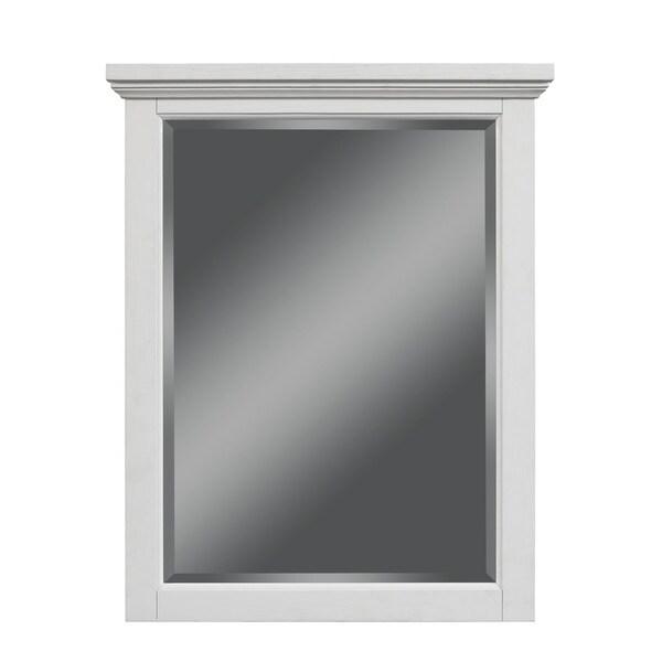 28-In Key West Mirror, White Oak Finish