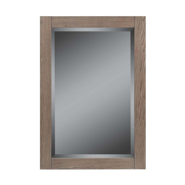22-In Strabury mirror, Weathered Oak Finish